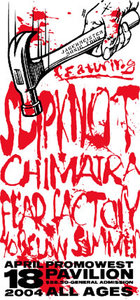 Slipknot, Fear Factory & Chimaira