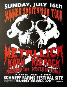 Metallica, Korn & Kid Rock