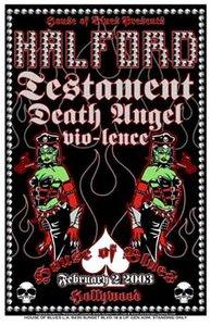Halford, Testament & Death Angel